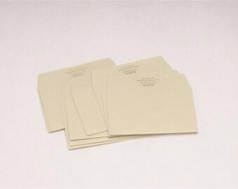 10 Classiky Letterpress Envelope Set - Hiyori