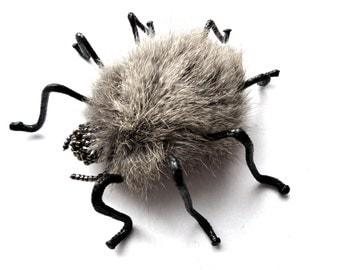 Spider Brooch Fur brooch spider Halloween Accessory