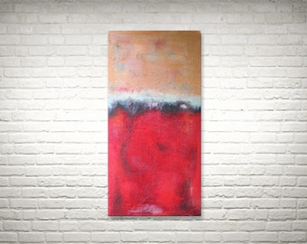 Bright Red - Original Acrylic Painting