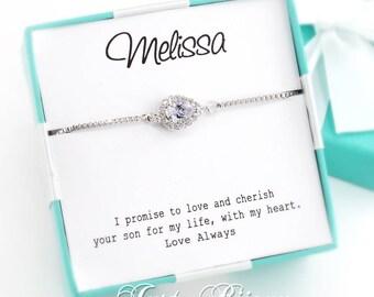 Wedding Bracelet Platinum plated Zirconia Bracelet Bridal Bracelet Bridesmaid Bracelet Wedding Jewelry CZ Bracelet Bridal Jewelry Gift