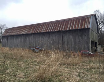 Big Tobacco Barn, Charles County, Maryland, Digital Photography