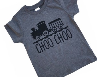 Train Tshirt, Train Shirt, Choo Choo Shirt, Choo Choo I'm Two, Train Theme, Train Party, Train Birthday, Train Lover, Boys Train Shirt