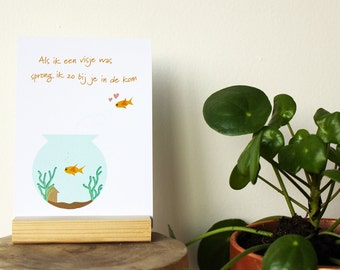 friendship card, greeting card, love card, fish card, funny card, postcard, birthday card, quote cards