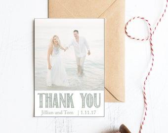 Destination Thank You, Beach Wedding Thank You, Nautical Wedding Thank You, Nautical Wedding, Coastal Wedding, Rustic Nautical Wedding, Card