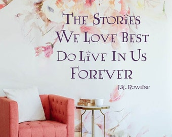 J.K. Rowling  Wall Quote, Harry Potter  Wall Decal,  Vinyl Letters, Wall Decor, Multiple Colors