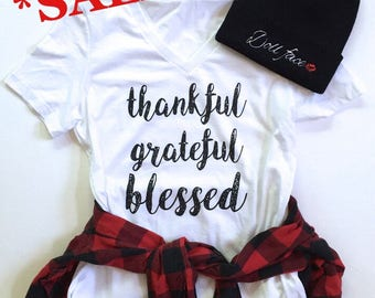 Sale! *IMPERFECT* Thankful Grateful Blessed Tee  | *See Item Details