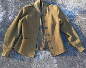 1940s WWII WAC army green wool jacket liner // small