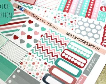 Planner Stickers - Weekly Planner stickers - Erin Condren Life Planner - Happy Planner - Day Designer- Modern Valentine's Day Stickers
