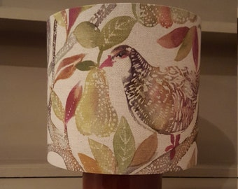 Autumn Partridge by Voyage Decoration 20cm drum lampshade