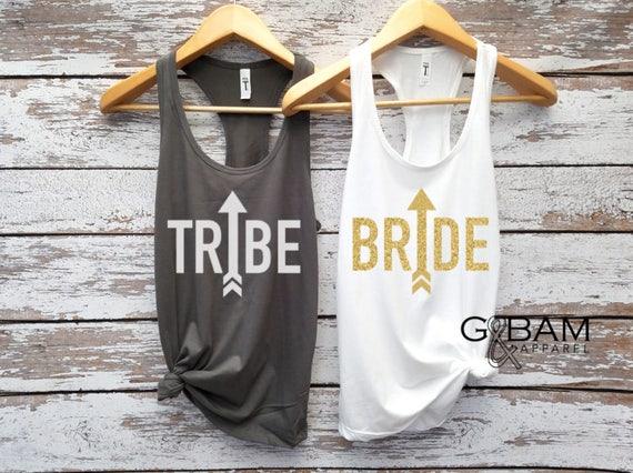 Bride tank top / Tribe tank top / Arrows / Bridal Party Tank tops / Bridesmaid Tank / Maid of Honor Tank