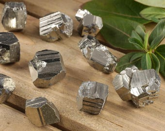 3 Shiny PYRITE Cubes - Rough Fools Gold Stone, Protection Stone, Pyrite Crystal Cluster, Pyrite Stone, Pyrite Jewelry, Pyrite Pendant E0244