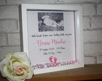 new baby frame / baby keepsake / new baby keepsake / new baby photo frame / baby photo frame / new baby keepsake / baby girl gift / baby boy
