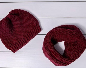 Toddler hat for girls Baby girl clothes Toddler hat Wool baby hat Knit baby hat Knit photo prop Red baby cowl Baby girl gift Baby shower