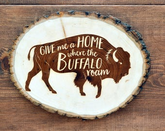 wood sign, wooden art, wooden signs, wood burning, wood burning art, rustic home decor, rustic decor, buffalo, midwest art, farmhouse