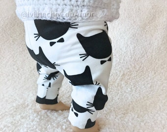 Baby leggings, Girl leggings, bear pants, baby boy leggings, baby girl leggings, Cat leggings, Cat leggings, cat pants, monochrome clothing