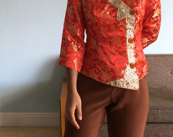 Vintage sz S traditional Chinese top