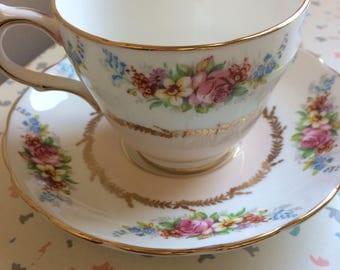 Westbrook English Teacup & Saucer - Bone China - Made in England