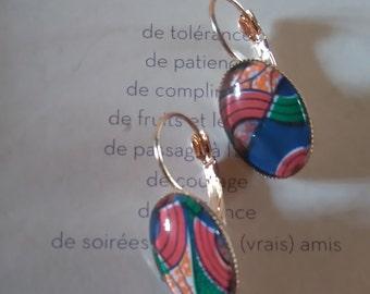 """""""African wax"""" earrings"""