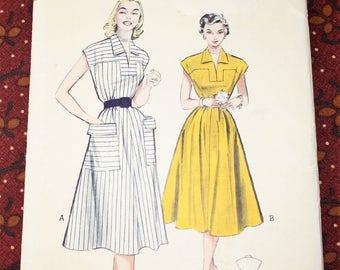 "1950's Original Sewing Pattern, Dress, Bust 34"", FF, Uncut"