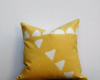 Mustard Yellow Boho Pillow, Bohemian Pillow,  Pillow Cover, Hand Designed Pillow Cover, Mustard pillow