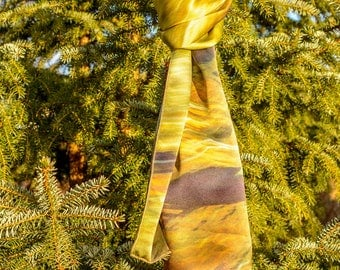 "Silk scarf ""Light in the forest"""