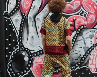 African Trousers - Allagi Trousers - Wax Trousers - Wax Pants - African Print - Lounge Pants - Festival Trousers - African Two-Piece