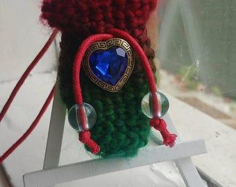 Crochet Amulet Pouch Necklace