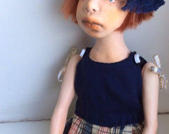 Ooak art doll, Art doll, Handmade doll, Clay doll