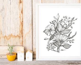 Varied Floral Print