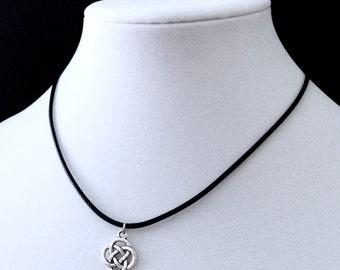 Celtic Knot Choker, Black Choker, Celtic Jewelry, Celtic Knot Necklace, 90s Jewelry, Grunge Jewelry, Celtic Knot, Black Cord, Celtic Jewelry