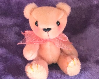 "Clementine 2"" Collectors Collectable miniature Handmade plush artist bear by Buff n Co at Everbelles"