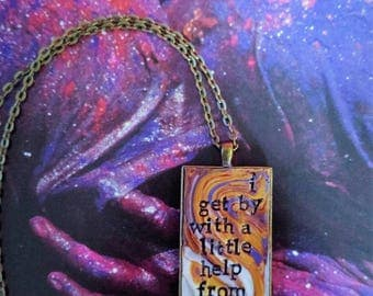The Beatles With a Little Help From My Friends Pendant Necklace