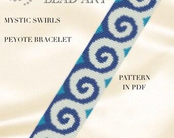 Peyote pattern for bracelet - Rhombuses geometric peyote bracelet cuff pattern in PDF - instant download