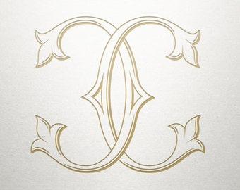 Interlocking Wedding Monogram -CC - Interlocking Monogram - Digital