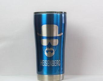 breaking bad, heisenberg, yeti, ozark, custom yeti, custom ozark, powder coated, powder coat, custom cups, stainless steel, yeti tumbler,