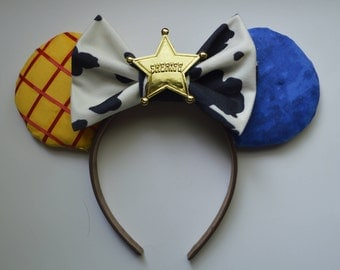 Toy Story Ears-Handmade Ears-Theme Park Mouse Ears-Theme Park Ears-Custom Mouse Ears-Minnie Ears-Mickey Ears-Disney Ears-Woody-Toy Story