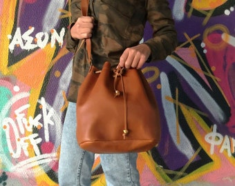 College Bag, Leather Bucket Bag, Laptop Bag, Crossbody Bag, Made in Greece by Christina Christi Jewels.