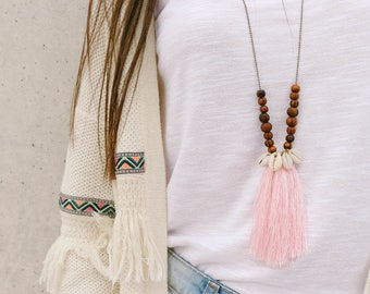 Long Tassel Necklace, Long Necklace, Beaded Necklace, Women's Jewelry, Made in Greece by Christina Christi Jewels.