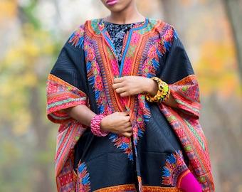 Dashiki Kimono African Kimono  Ankara Poncho Kitenge Kimono African Blazer Hawaiian Kimono Oversized African Kimono Angelina Kimono Plus