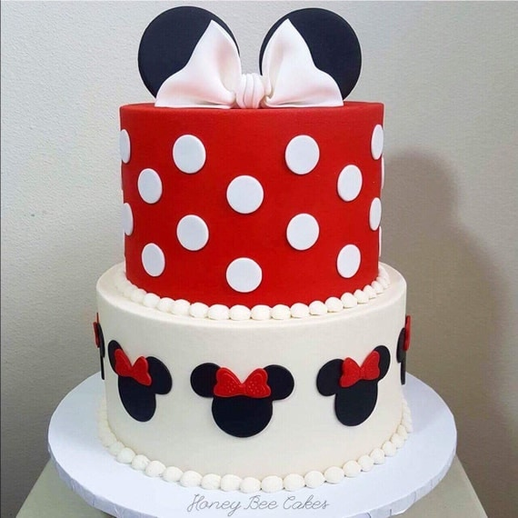 Cake Decorating Ideas Minnie Mouse : Minnie Mouse Cake Decorations Set