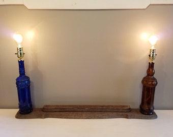 Twin Bottle Lamp