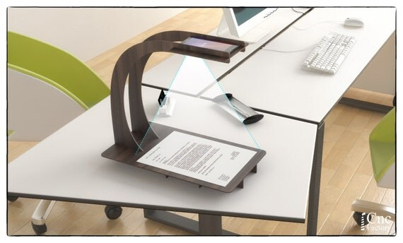 PHONE SCANNER STAND Laser Cutting Template Plans Wooden