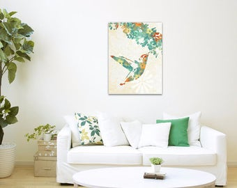 Wall Art Canvas, Hummingbird Print, Country Home Decor, Hummingbird Wall Art, Hummingbird, Art Print, Cottage Chic Wall Decor, Canvas Prints