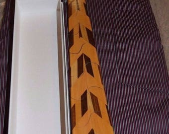 Wooden tie, handmade adjustable tie