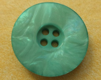 10 turquoise buttons 23mm (6428) button