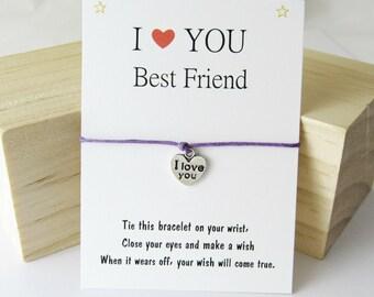 Best Friend Bracelet, Wish Bracelet, Friendship Bracelet, Gift for friends, Friends Gift, Best Friend Gift, Friend Birthday Gift, BFF gifts.