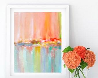 Rainbow Abstract Art, INSTANT DOWNLOAD, Printable Art, Minimalist, Printable Watercolor, Abstract Painting, Printable Art Prints, Wall Decor
