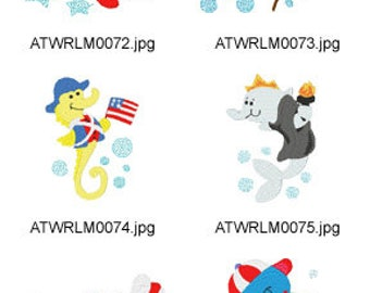 USA-Sea-Friends ( 10 Machine Embroidery Designs from ATW ) XYZ17D