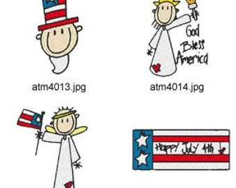 America ( 11 Machine Embroidery Designs from ATW ) XYZ17D