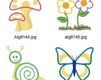 Spring-Applique ( 8 Machine Embroidery Designs from ATW ) XYZ17E